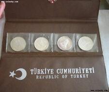 TURKEY 10 20 50 Lira 1960-1972 4 Silver Proof Coins Set