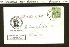 PH1097 1931 Australian 1d Green KGV on Commercial Cover