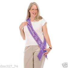 1 Baby Shower Party New Grandmother GRANDMA TO BE Satin SASH