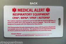 MET 601 CPAP MEDICAL EQUIP ID LUGGAGE TAG FOR CARRY-ON - CPAP/BiPAP/SLEEP APNEA