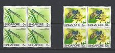 SINGAPORE 1986 'SCARCE' REDRAWN insects blks/4 VF MNH