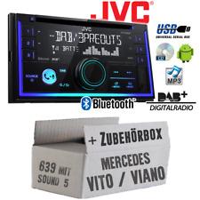 JVC Radio für Mercedes Vito Viano 693 2-DIn DAB+ Bluetooth MP3 USB Einbauset PKW