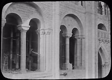 Glass Magic Lantern Slide WINCHESTER CATHEDRAL S TRANCEPT TRIFORIUM C1890 PHOTO