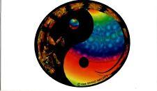 Vintage 1998 Psychedelic Yin-Yang Lizard Vending Machine Prism Sticker