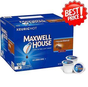 🔥 Maxwell House [100 K-Cups] House Blend Coffee 100% Arabica Coffee 100 ct 🔥