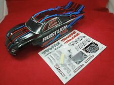TRAXXAS RUSTLER vxl RED BLUE BLACK BODY AND DECALS NEW n' XL-5 BRUSHLESS