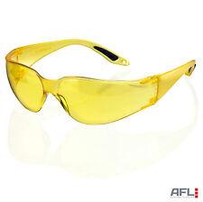 B-Brand Vegas Wraparound Yellow Lens Safety Glasses - Impact & Scratch Resistant