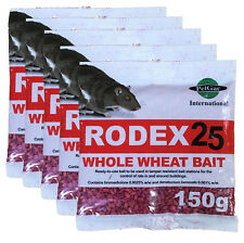 Rodex Rat & Mouse poison Wheat Bait 5x150g packs *Effective Poison UK Made* Rat