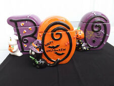 David's Cookies Halloween Ceramic Cookie Jar set of 3 BOO