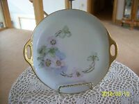 Germany Vintage Wild Rose Blossom Double Handle Porcelain China Dresser Tray