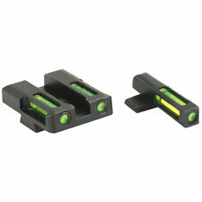 HiViz LiteWave H3 Green Trit Springfield XD/E XDM XDS Front Rear Night Sight Set
