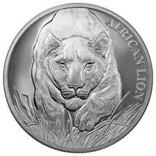 2017 Republic of Chad 5000 Francs 1 oz. Silver African Lion Coin SKU43307