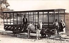 c.1910 RPPC Horse Drawn Trolley Rapid Transit Capo's North Beach St Augustine FL