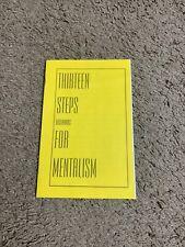 New ListingMichael Weber 13 Steps Backwards For Mentalism Lecture Notes- Rare