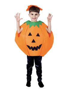 Children Halloween Pumpkin Costume Orange jack o'lantern Scary Dress Up Kids