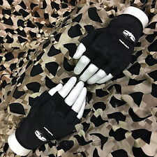 New Valken Impact Half Finger Padded Paintball Gloves - Black - Xxl/Xxxl