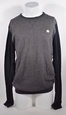 2015 NWT ELEMENT MENS PRINCETON CREW SWEATER $40 L charcoal gray two tone light