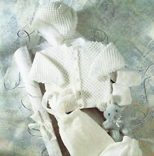 "Baby Knitting Pattern Jacket Leggings Hat Mittens 18-22"" DK   241"