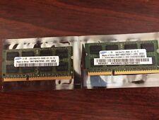 SAMSUNG 4GB (2x2GB) DDR3 PC3-8500 204-PIN LAPTOP MEMORY