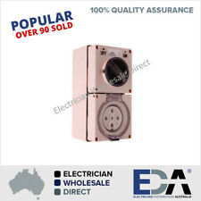 3 Phase 5 Pin 50 A Amp Switched Socket Combination Outlet IP66 Weatherproof