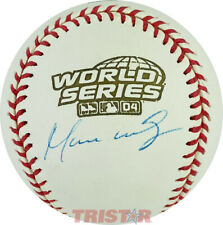 MANNY RAMIREZ SIGNED AUTOGRAPHED 2004 WORLD SERIES BASEBALL PSA - BOSTON RED SOX