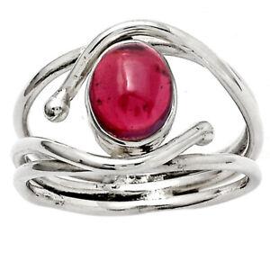Rhodolite Garnet - Madagascar 925 Sterling Silver Ring s.6.5 Jewelry E147