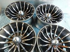 "VINTAGE SET E-T RADIAL 15"" CYCLONE II MAG WHEELS FORD TURBINE DODGE VAN JEEP"