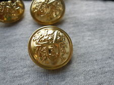 19MM Gold crest hollow metal blazer buttons 13 pcs Anchor Harp Designer suit 30L