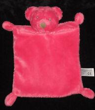 Doudou plat Ours rose fushia et marron Nicotoy Simba Toys 25 cm