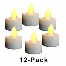 12 Pack Candle Choice Flameless LED Batteries Incl. Tea Light Candles with timer