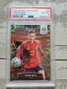 2020 Panini Select Uefa Euro Soccer Fabian Ruiz Camo Prizm PSA 36/60