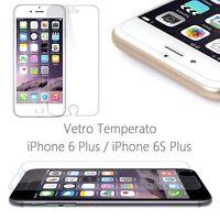 Pellicola Vetro Temperato per iPhone 6 Plus 6S Plus Protezione Schermo