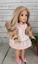"8-9"" Custom Doll Wig fit bjd, Dolfie-Luts-Wellie Wisher-LIL PEARL ROSE bn1"