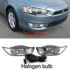 For 2007-2012 Mitsubishi Lancer EX Front bumper halogen fog light kit Clear Lens