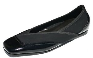 $250 Donald J Pliner Women's Artis Slip On Flat Shoe Black 6.5 MADE IN ITALY