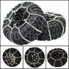 2pcs Metal Steel Snow Chains Tire Chains For 1/10 Traxxas TRX-4 TRX4 Crawler