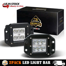 2X18W Flush Mount Flood Led Work Light Bar Driving Fog Lamp Offroad Pickup