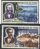 Tschad 220-221 (kompl.Ausg.) gestempelt 1969 Dt. Afrikaforscher und Gelehrte