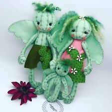 Felt Cactus fairy / angel ooak doll rag doll decorations