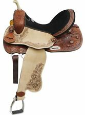 "16"" Double T Barrel Style Saddle With Copper Colored Starburst Conchos!"