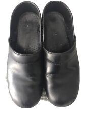 Dansko Leather black Staple Clogs Size 39 Medical Nurse Comfort