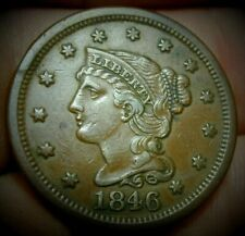 1846 Braided Hair Large Cent in XF Condition  #C014