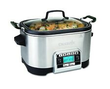 Crock-Pot Silver Slow Multi-Cooker 5.6 L Food Cooking Maker Kitchen Appliance