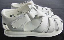 Solar Soles White Leather Flip Flops Slide Sandals Shoes Kids Little Girls 6