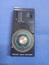 Vintage Seiko Quartz Metronome Sqm-349 Tested, Works Used.Open