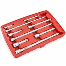 """9pc wobble Socket wrench Bar Extension Tool Set 1/4"""" 3/8"""" 1/2"""" Dr inch Drive"""