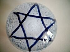 Antique Millville Glass Star Of David Frit Paperweight South Jersey Holiday Lrg