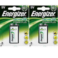 LOT 2 x PILE ACCU ENERGIZER CHARGEABLE 9V 175mAh Ni-Mh 6F22 6LR6 BATTERIE