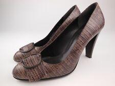 STUART WEITZMAN Brown Embossed Textured Leather Pumps Heels Shoes Sz 7 M
