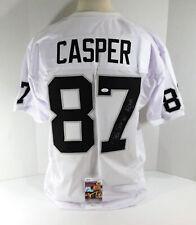 Dave Casper Signed White Raiders Football Jersey JSA Auto DA037193